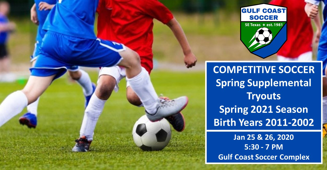 Supplemental Tryouts for Spring 2021 Season