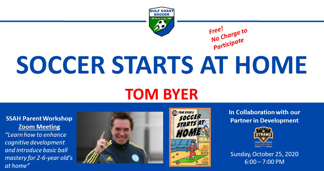 Soccer Starts at Home Webinar October 25, 2020